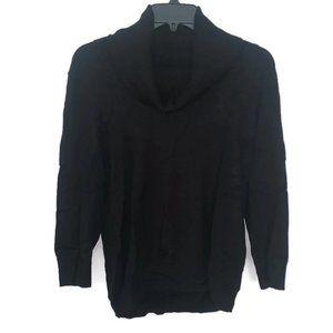 Cable & Gauge Black Cowl Neck Sweater Size XL